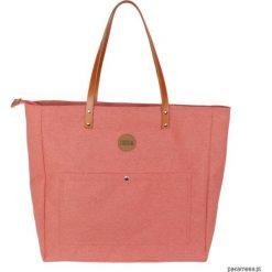 Bardzo Duża Torba Damska Na Ramię Koralowa. Pomarańczowe torebki klasyczne damskie Pakamera, z tkaniny, duże. Za 259,00 zł.