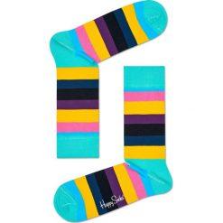 Happy Socks - Skarpetki Stripe. Zielone skarpetki damskie Happy Socks, z bawełny. W wyprzedaży za 29,90 zł.