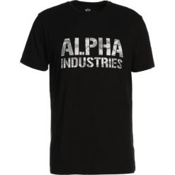 T-shirty męskie z nadrukiem: Alpha Industries CAMO PRINT  Tshirt z nadrukiem black/white