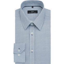 Koszula SIMONE1F KDNS000095. Białe koszule męskie na spinki Giacomo Conti, m, w kratkę, z bawełny, z klasycznym kołnierzykiem. Za 259,00 zł.