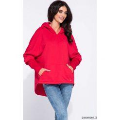 Czerwona bluza kangurka damska oversize. Czerwone bluzy damskie Pakamera. Za 169,00 zł.