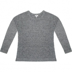Sweter kaszmirowy w kolorze szarym. Szare swetry klasyczne damskie marki Ateliers de la Maille, z kaszmiru, z okrągłym kołnierzem. W wyprzedaży za 545,95 zł.