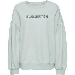 Bluzy damskie: Bluza bonprix miętowy z nadrukiem