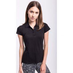 Bluzki sportowe damskie: Koszulka polo damska TSD050z – czarny – 4F