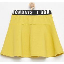 Rozkloszowana spódnica - Zielony. Zielone spódniczki dziewczęce marki Reserved, rozkloszowane. W wyprzedaży za 19,99 zł.
