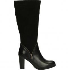 Kozaki ocieplane - GEORGIA1609 B. Czarne buty zimowe damskie Venezia, ze skóry. Za 259,00 zł.