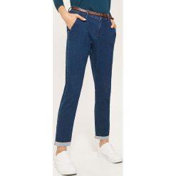 Spodnie typu chino - Niebieski. Niebieskie chinosy damskie House. Za 89,99 zł.