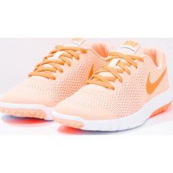 Nike Performance FLEX EXPERIENCE 5  Obuwie do biegania startowe sunset glow/tart/white. Brązowe buty sportowe chłopięce Nike Performance, z materiału, do biegania. W wyprzedaży za 160,30 zł.