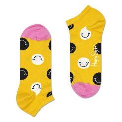 Skarpety Happy Socks Low Smile (SMI05-2000). Żółte skarpetki męskie marki Happy Socks, z bawełny. Za 29,99 zł.
