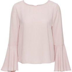 Bluzki damskie: Bluzka z rozkloszowanymi rękawami bonprix różowy