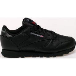 Reebok - Buty Cl Lthr. Szare buty sportowe damskie marki Reebok, l, z dzianiny, z okrągłym kołnierzem. W wyprzedaży za 279,90 zł.