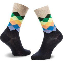 Skarpety Wysokie Unisex HAPPY SOCKS - FAD01-6002 Granatowy Kolorowy. Niebieskie skarpetki męskie Happy Socks, w kolorowe wzory, z bawełny. Za 34,90 zł.