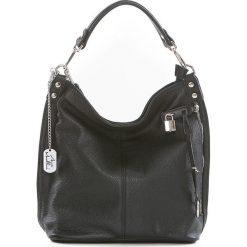 Torebki klasyczne damskie: Skórzana torebka w kolorze czarnym – 30 x 30 x 12 cm