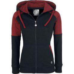 Bluzy damskie: RED by EMP Upper Two Tone Hoodie Jacket Bluza z kapturem rozpinana damska czarny