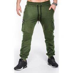 Spodnie męskie: SPODNIE MĘSKIE DRESOWE P462 – ZIELONE