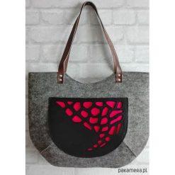 Torebki i plecaki damskie: Torba filcowa Kolekcja DELUX amarant