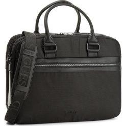 Torba na laptopa GUESS - Global Functional HM6483 POL82 BLA. Czarne plecaki męskie Guess, z aplikacjami. W wyprzedaży za 389,00 zł.