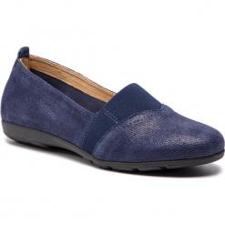Półbuty CAPRICE - 9-24650-22 Blue Jeans Sue 802. Niebieskie półbuty damskie skórzane Caprice, na płaskiej podeszwie. Za 199,90 zł.