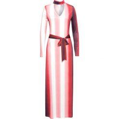 Sukienki: Sukienka z nadrukiem bonprix czerwono-biały z nadrukiem