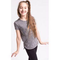 Odzież dziecięca: Koszulka sportowa dla dużych dziewcząt JTSD406z - szary melanż