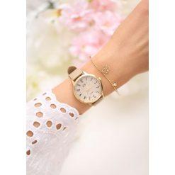 Zegarki damskie: Beżowy Zegarek Always On Time