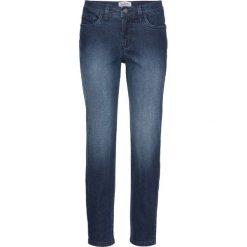 Miękkie dżinsy ze stretchem Classic, krótsze nogawki bonprix ciemnoniebieski. Niebieskie boyfriendy damskie bonprix. Za 49,99 zł.