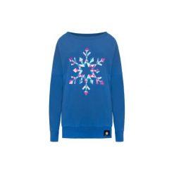 Bluzy damskie: Bluza oversize colorful snowflake – blue