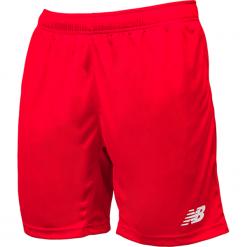 Spodenki treningowe EMS6130HRD. Czerwone spodenki sportowe męskie New Balance, m, z materiału, do piłki nożnej. Za 79,99 zł.
