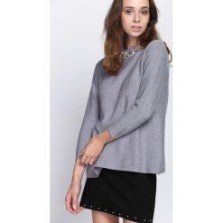 Szary Sweter Shake Up. Szare swetry klasyczne damskie marki Born2be, l, ze stójką. Za 89,99 zł.