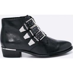 Bronx - Botki. Czarne botki damskie skórzane marki Bronx. W wyprzedaży za 299,90 zł.