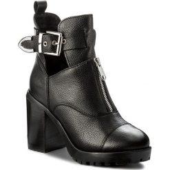 Botki BRONX - 33947-B BX 1432 Black/Silver 187. Czarne buty zimowe damskie marki Bronx, z materiału. W wyprzedaży za 289,00 zł.