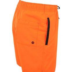 Calvin Klein Swimwear MEDIUM DRAWSTRING PRINT Szorty kąpielowe shocking orange. Brązowe kąpielówki chłopięce Calvin Klein Swimwear, z materiału. Za 189,00 zł.