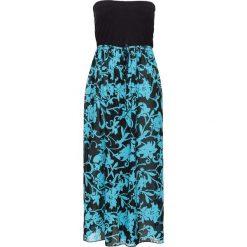 Sukienki hiszpanki: Sukienka plażowa bonprix czarno-turkusowy