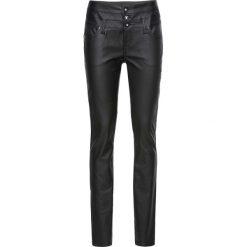 Spodnie z wysokim stanem: Spodnie ze sztucznej skóry SKINNY, z wysoką talią bonprix czarny
