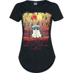 Grumpy Cat No Koszulka damska czarny. Czarne bluzki asymetryczne Grumpy Cat, xl, z nadrukiem, z materiału, z okrągłym kołnierzem. Za 99,90 zł.