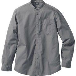 Koszula z długim rękawem Regular Fit bonprix dymny szary. Szare koszule męskie na spinki bonprix, l, ze stójką, z długim rękawem. Za 37,99 zł.