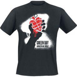 T-shirty męskie z nadrukiem: Green Day American Idiot – Spraying T-Shirt czarny