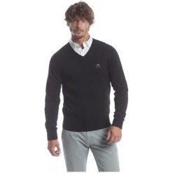Polo Club C.H..A Sweter Męski Xxl Czarny. Czarne swetry klasyczne męskie marki Polo Club C.H..A, m, dekolt w kształcie v. W wyprzedaży za 259,00 zł.