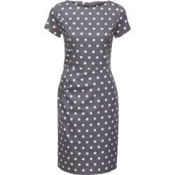 Sukienki: Sukienka bonprix szaro/biały w kropki