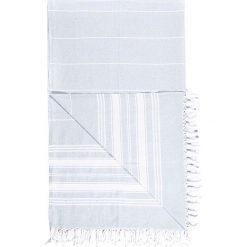Chusta hammam w kolorze błękitnym - 180 x 100 cm. Czarne chusty damskie marki Hamamtowels, z bawełny. W wyprzedaży za 43,95 zł.