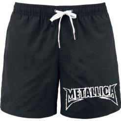 Kąpielówki męskie: Metallica Logo Kąpielówki czarny