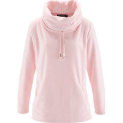 Sweter z polaru bonprix pastelowy jasnoróżowy. Niebieskie swetry klasyczne damskie marki ARTENGO, z elastanu, ze stójką. Za 74,99 zł.