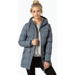 Ragwear - Płaszcz damski – Ashani Puffy B, niebieski. Niebieskie płaszcze damskie marki Ragwear, l, z futra. Za 699,95 zł.