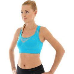 Biustonosze sportowe: Brubeck Biustonosz Crop top Fitness niebieski  r.XL (CR10070)