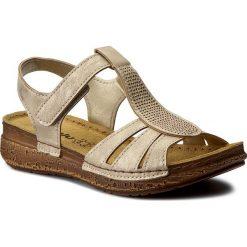 Rzymianki damskie: Sandały INBLU – TWAUOO88  Złoty