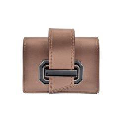 Torebki klasyczne damskie: Skórzana torebka w kolorze brązowozłotym – (S)22,5 x (W)16 x (G)7,5 cm