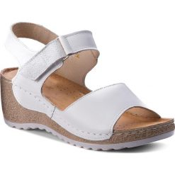 Rzymianki damskie: Sandały WASAK – 0474 Biały/Len