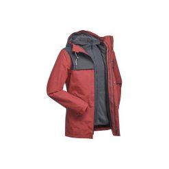 Kurtka trekkingowa 3w1 TRAVEL 100 męska. Brązowe kurtki męskie marki LIGNE VERNEY CARRON, m, z bawełny. Za 249,99 zł.