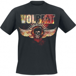 Volbeat Burning Skullwing T-Shirt czarny. Czarne t-shirty męskie marki Caliban, s. Za 74,90 zł.