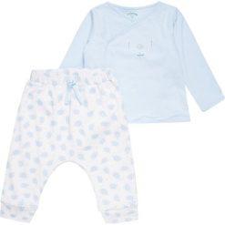 Chinosy chłopięce: 3 Pommes WELCOME BABY SET Spodnie materiałowe bleu ciel